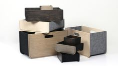 ¡Increíble! Accesorios de madera cosida Wood tailoring de Färg & Blanche.  MAISON&OBJET