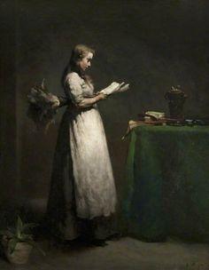 The Studious Servant (c.1871). Augustin Théodule Ribot (French,...