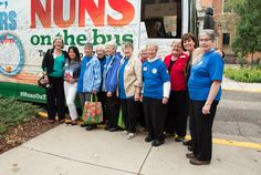 You can't miss them--Nuns on the Bus stopped by St. Catherine University!  #nunsonthebus #vote #MakeBoldMoves