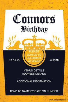 30th Birthday Invitation Corona Beer