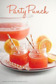 Party Punch (alcohol free)  from the kitchen of Ruth Calahan    3 3-oz packages of fruit-flavored gelatin (I use 2 strawberry and 1 orange)  3 cups white sugar  13 cups boiling water  2 46-oz cans pineapple juice  1 16-oz bottle lemon juice  2 2-liter bottles ginger ale, chilled