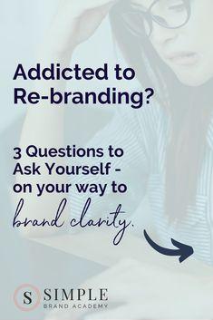 3 Questions to Ask Yourself if You Keep Rebranding - Bracken House Branding Co. Logo Branding, Branding Ideas, Business Branding, Boutique Logo, Simple Website Design, Business Design, Business Tips, Brand Style Guide, Logo Design Inspiration
