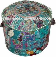 #indianpouf #patchworkpouf #pouf #ottoman #ikeapouf #footstool #chair #floorcushion #embroideredpouf #handmadepouf #pouffe #outdoorfurniture #patiofurniture Bean Bag Bed, Bean Bag Chair, Upholstered Ottoman, Pouf Ottoman, Ikea Pouf, Tapestry Bedding, Tapestries, Vintage Patches, Cozy Room