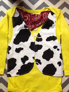 This is a Woody cowboy inspired outfit great for galloping around in and reacting scenes from your little ones favorite toy movie.