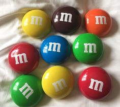 Vintage Lot of 9 M M's Metal Tins Candy Shaped 1998 3 inches Around | eBay