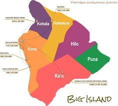 Driving Map - Kona, Hawaii