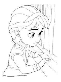 Disney Frozen Coloring Page 8