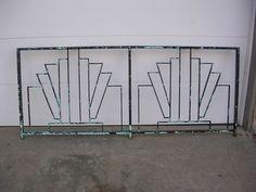 Art Deco Wrought Iron Balcony Rail Railing Fence Headboard Gate 1930's 1940's
