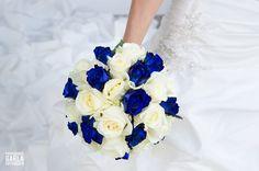 Bridal blue bouquet