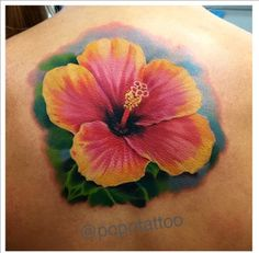 Who doesn't love flower tattoos? Find out what the top 6 flower tattoos trending are here! Up Tattoos, Time Tattoos, Body Art Tattoos, Tatoos, Ocean Tattoos, Hawaii Flower Tattoos, Tropical Flower Tattoos, Plumeria Tattoo, Hibiscus Tattoo
