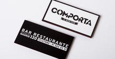 Tarjetas de visita de Comporta. #businesscard #letterpress #edgepainting #cantospintados #restaurant #Madrid #restaurante