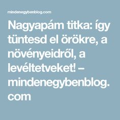 Nagyapám titka: így tüntesd el örökre, a növényeidről, a levéltetveket! – mindenegybenblog.com Life Hacks, Gardening, Flowers, Home Decor, Plant, Decoration Home, Room Decor, Garten, Florals
