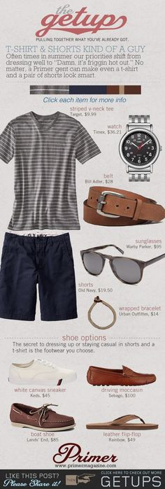 The Getup: T-shirt & Shorts Kind of a Guy - Primer