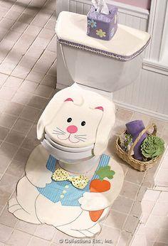 Hoppy Easter bathroom set