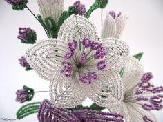 French beaded flower                                                                                                                                                      More