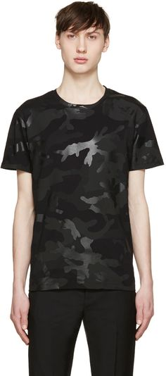 bbbe432eff367 VALENTINO Black Camouflage T-Shirt.  valentino  cloth  t-shirt Military