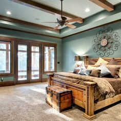 20 incredible rustic bedroom design rustic bedroom blue, rustic bedroom f. Rustic Bedroom Blue, Rustic Country Bedrooms, Rustic Bedroom Design, Rustic Bedroom Furniture, Rustic Room, Farmhouse Master Bedroom, Master Bedroom Design, Home Decor Bedroom, Bedroom Ideas