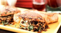 Pork Chops Stuffed With Mushrooms And Thyme - this is happening on the grill this week.
