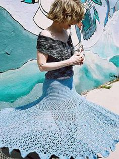 15 Fun, Flirty, Fabulous Free Crochet Skirt Patterns: Spiderweb Crochet Skirt Pattern by Josi Hannon Madera