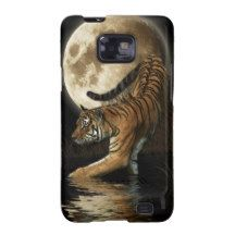 Hunting Bengal Tiger & Moon Big Cat Wildlife Galaxy S2 Cases