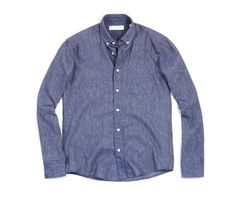 Drapeau Noir Shirt MTVV Slub Blue / Novoid Plus