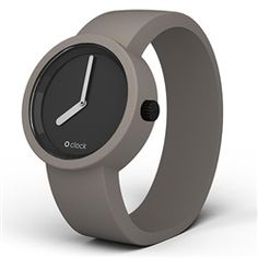#OClock - Black face with Mountain Grey strap