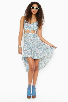 Caged Tail Dress - Floral  $27.20.