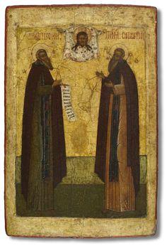 Преподобные Зосима и Савватий Соловецкие Вторая треть XVI века. Русский Север (Поморье)