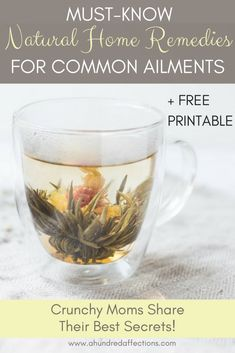 Must-Know Natural Home Remedies for Common Ailments {+ Free Printable} - A Hundred Affections