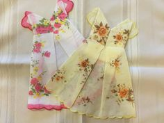 Ladies Hanky Handkerchief dress favor or napkin for bridal, baby shower and more
