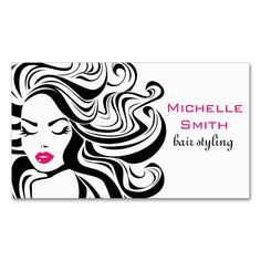 Retro Hairstyling business card design. Make your own business card with this great design. All you need is to add your info to this template. Click the image to try it out!
