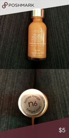 Liquid foundation N6 new Loreal true match super blendable. N6 honey beige. I purchased the wrong color. Makeup Foundation