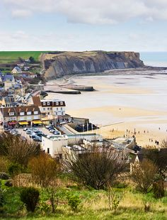 Arromanches Les Bains, Normandy, France, Europe - and Gold Beach, one of the…