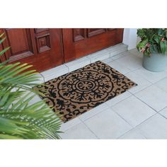 "First Impression Roseanne Coir Entry Doormat Large Size:24""X36"" 