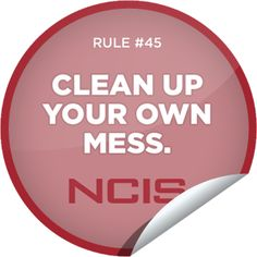 Steffie Doll's NCIS Rule #45 Sticker | GetGlue