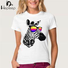 Suivre Ship + Vintage Rétro Bon Sentiment femmes T-shirt Top Tee Frais Zèbre écouter de la musique, apporter lunettes Montre paysage naturel