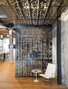 Perforated Metal Panels for Space Partition Wall Design Interior Design Blogs, Modern Interior, Room Interior, Design Interiors, Interior Office, Interior Paint, Kitchen Interior, Commercial Design, Commercial Interiors