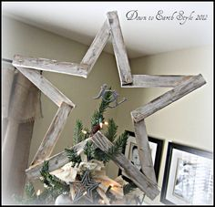 Down to Earth Style: Simply Handcrafted Tree Star ~ Christmas Tree 2012
