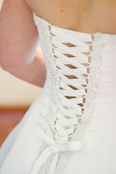 my wedding dress corset