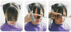 How to #trim #bangs at home - it's way better if you do it before the #kid does!