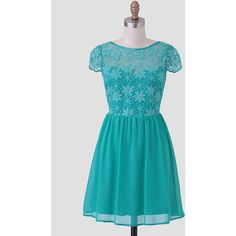 Ruche Ivy Terrace Embroidered Dress (58 CAD) ❤ liked on Polyvore featuring dresses, green, green fit and flare dress, fit flare dress, mesh dress, blue embroidered dress and blue fit and flare dress