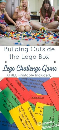 Got lego lovers? Then a great way to breathe life into the Lego bin is with lego games. You can create all sorts of challenges and fun new ways to get your kids creating with their legos. Lego Duplo, Legos, Construction Lego, Lego Boxes, Challenge Games, Lego Club, Lego For Kids, Kids Fun, Indoor Games