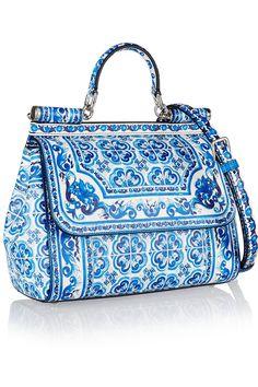 Dolce & Gabbana | Sicily printed leather shoulder bag | NET-A-PORTER.COM