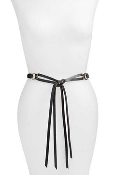 Hinge Braided Tie Leather Belt