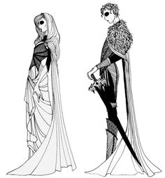 """Queen Jeyne Westerling and King Robb Stark from the """"A Song of Ice and Fire"""" series."""