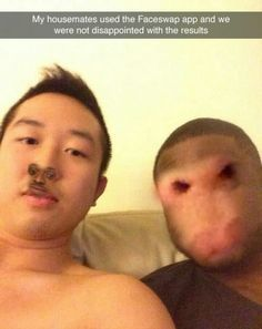 Here are 20 funny face swaps guaranteed to make you laugh. Really Funny Memes, Stupid Funny Memes, Funny Relatable Memes, Haha Funny, 9gag Funny, Funny Laugh, Funny Quotes, Humour Snapchat, Funny Face Swap