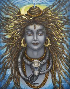 Gangadhara Shiva Painting