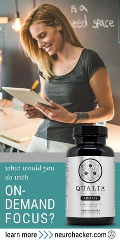 Your daily nutritional support for on-demand focus and concentration. Qualia Focus, as science backed nootropic is designed to enhance the brain's adaptive capacity and up-regulate the entire body for optimal well-being. Best Nutrition Apps, Nutrition Tracker App, Nutrition Quotes, Colon Health, Brain Health, Brain Connections, Precision Nutrition, Increase Productivity, Brain Fog