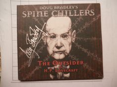 2008-DOUG BRADLEY(PINHEAD)SPINE CHILLERS-THE OUTSIDERS-AUTOGRAPHED SIGNED-