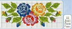 This Pin was discovered by qqq Just Cross Stitch, Cross Stitch Borders, Cross Stitch Flowers, Cross Stitch Kits, Cross Stitch Charts, Cross Stitch Designs, Cross Stitching, Cross Stitch Embroidery, Embroidery Patterns